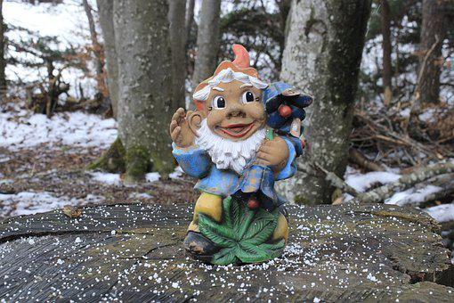 Gnome, Little Dwarf, Elf, Garden, Ornament, Small, Old