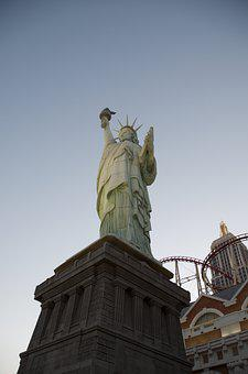 Las Vegas, New York, Statue Of Liberty, America
