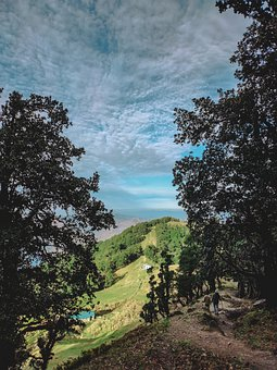 Mountain, Highest, People, Tourist, Sky, Skies, Trees