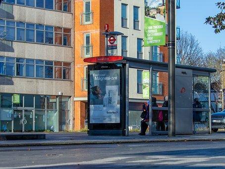 Bus, Stop, Transport, Urban, Street