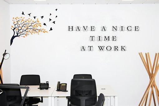 Office, Wall, Armchair, Desk, Telephone, Work