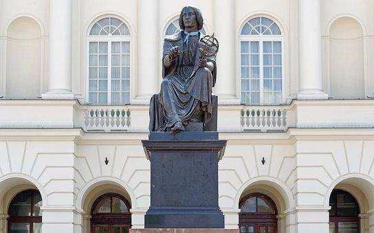 Statue, Sculpture, Metal, A Scientist