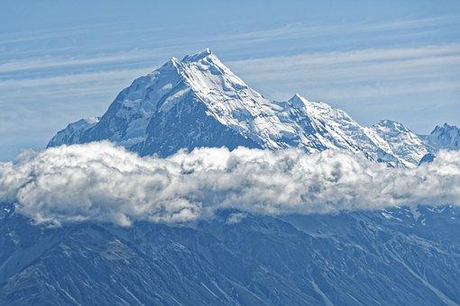 New Zealand, Aoraki, Mount Cook, Mountain, Glacier