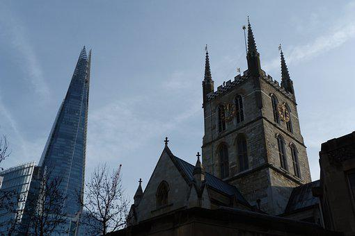 Old, New, Architecture, London, Southwark, Cathedral