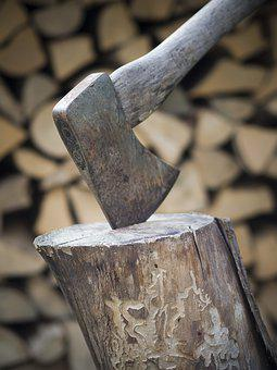 Axe, Wood, Forest, Firewood, Split, Metal, Campfire