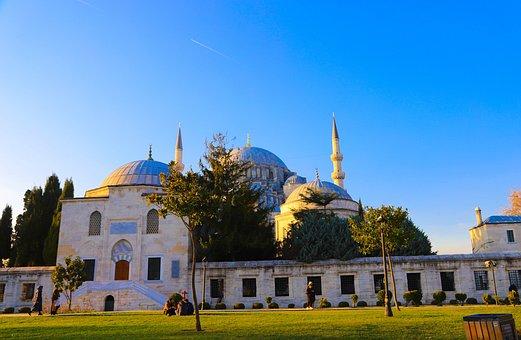 Süleymaniye, Cami, Fatih, Sunset, Turkey, Istanbul