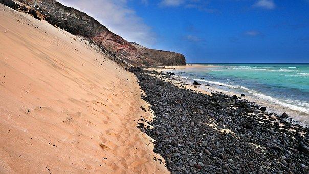 Canary Islands, Beach, Dune, Sand, Sea, Landscape