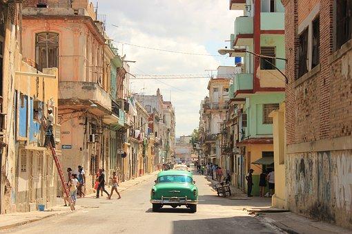 Cuba, Travel, Car, City, Architecture