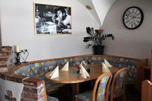 Dining Room, Restaurant, Table, Bank, Chair, Setup