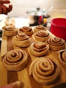 Cinnamon Rolls, Cake, Swedish, Snack, Caffeine