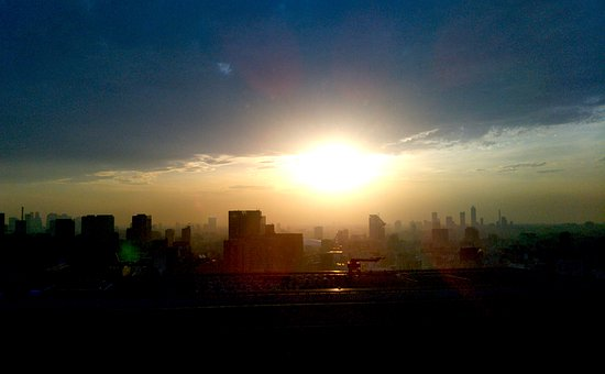Tokyo, Sunset, City, Sun, Japan, Building, Landscape