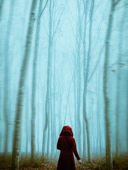 Forest, Girl, Tree, Dark Photo, Blur Photo, Jungle