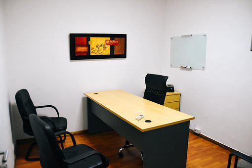 Small Office, Office, Desk, Chairs, Businessman
