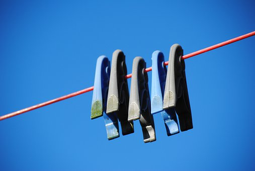 Pegs, Line, Laundry, Clothesline, Dry, Washing, Clothes