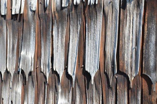 Wood, Old, Wood Shingles, Farmhouse, Broken, Facade