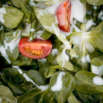 Salad, Tomatoes, Green, Vegetables, Eat, Food, Fresh