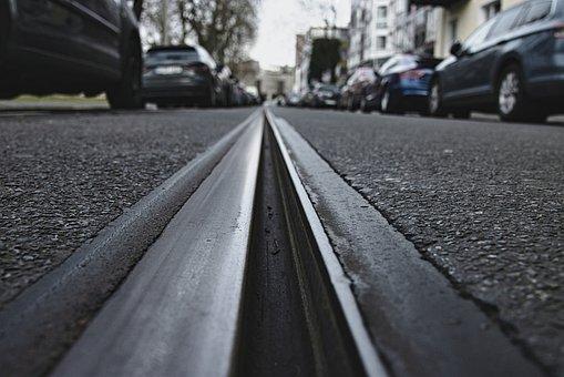 Rail, Road, City, Tram, Rails, Gleise