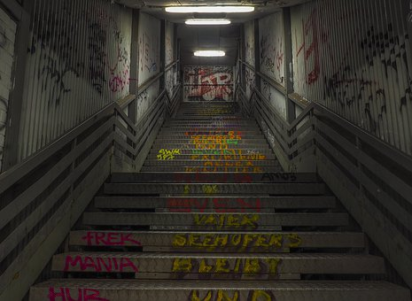 Architecture, Stairs, Staircase, Building, Gradually