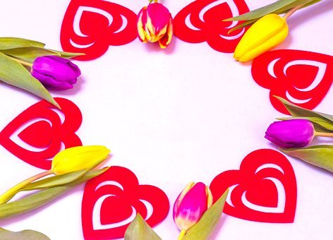 Love Wallpaper, Hearts And Flowers
