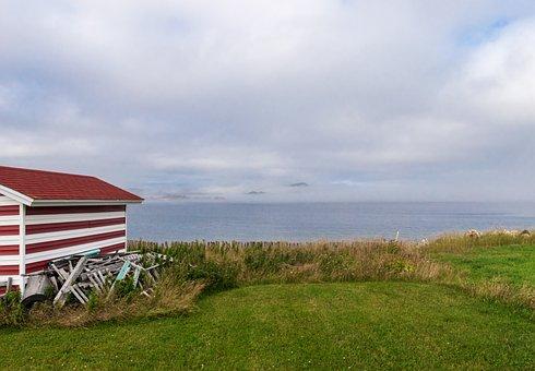 Avalon, Peninsula, Newfoundland, Hut, Fog