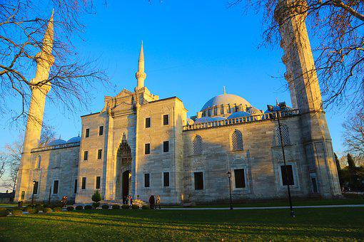 Cami, Süleymaniye, Islam, Minaret, Istanbul, Turkey, On
