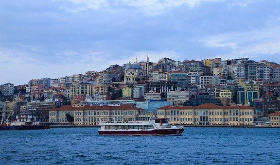 Ship, Marine, Istanbul, Turkey, Jewish, Buildings, City
