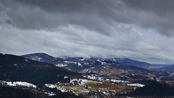 Panorama, Landscape, Winter, Mountains