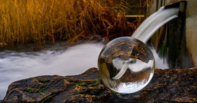 Lensball, Water, Nature, Reflections