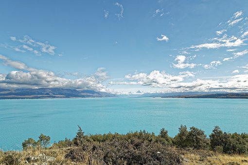 New Zealand, Lake Pukaki, Aoraki, Mount Cook, Mountain