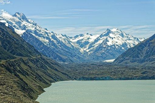 New Zealand, Tasman Lake, Tasman Glacier, Lake, Glacier