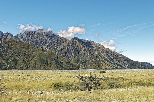New Zealand, Tasman Vally, Valley