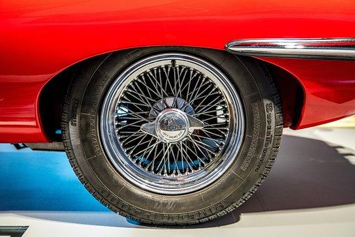 Spoke Wheel, Mature, Auto, Oldtimer