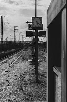 Clock, Railway, Railway Station, Travel
