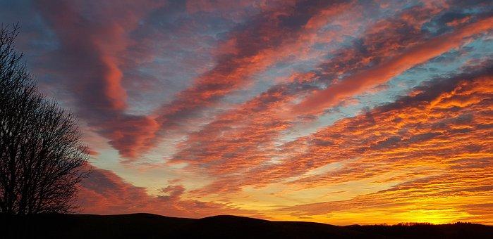 Sunset, Sky, Galloway, Scotland, Kirkcudbright, Clouds