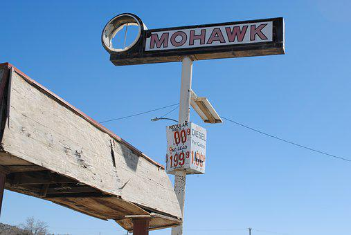 Mohawk Gas, Gas Station, Gas Sign, Sign, Gas, Gasoline