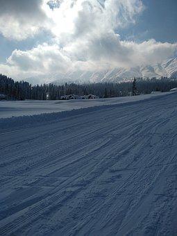 Kashmir, Gulmarg, Srinagar, Snow, Ski, Clouds