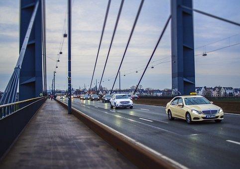Bridge, Autos, Highway, Architecture, Traffic, City