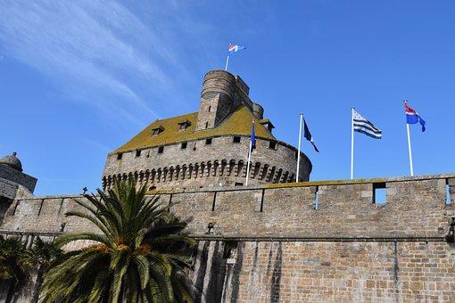 Castle Of Saint Malo, Turret, Ramparts