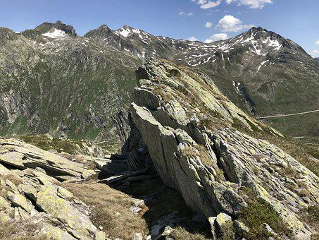 View From The Pizzo D Orsirora, Alpine Route, Alps