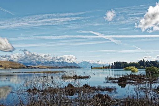 New Zealand, Location Tekapo, Lake, Water