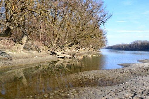 Hungary, Croatia, Border, Baranya, Drava, River, Water