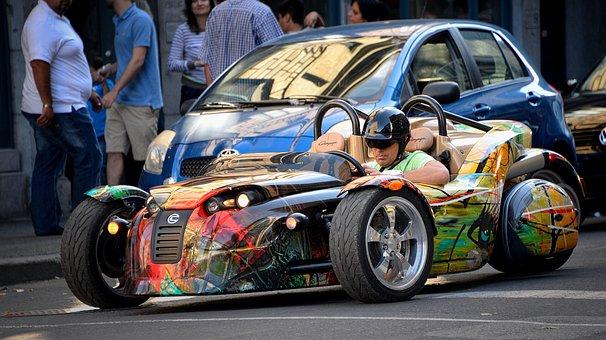 Custom Car, Sports, Automobile, Wheel