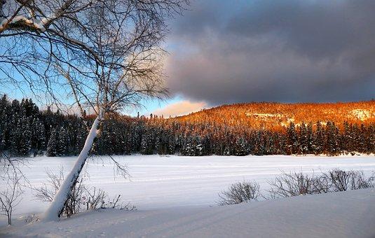 Landscape, Nature, Snow, Sky, Clouds, Winter, Colors