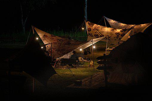 Autumn, Camping, Night, Landscape