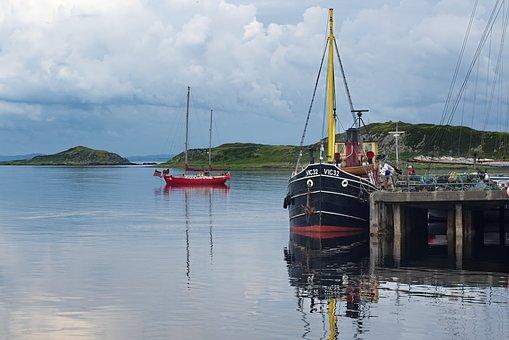 Scotland, Highlands, Landscape, Nature, Water, Boat