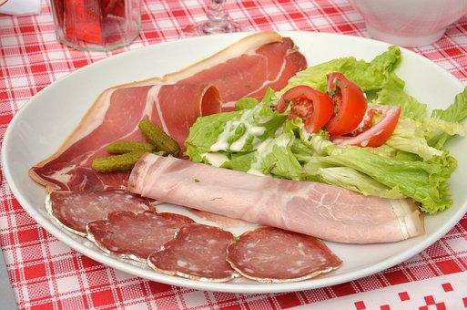 Delicatessen, Ham, Salad, Food, Power, Calories