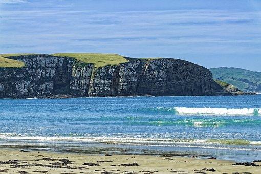 New Zealand, Jack'S Bay, Bay, Cliff