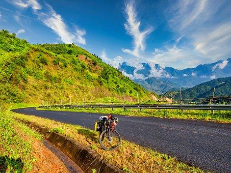 Road, Touring, Airport, Street, Bike, Mountain, Cloud