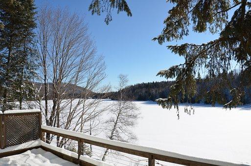 Snow, Sun, Chalet, Landscape, Winter, Cold, Nature