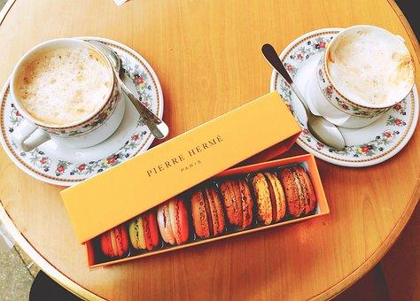 Cafe, Coffee, Drink, Macaron, Espresso, Dessert, French